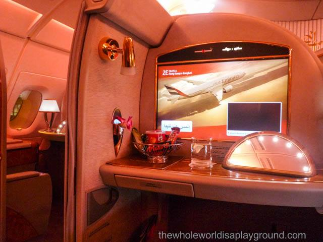 First Class Private Suite, Emirates A380: Bangkok-Hong Kong-Bangkok