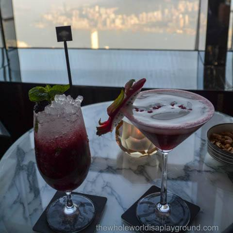 On Top of the World! Cocktails at the Ozone Bar, Ritz Carlton, Hong Kong