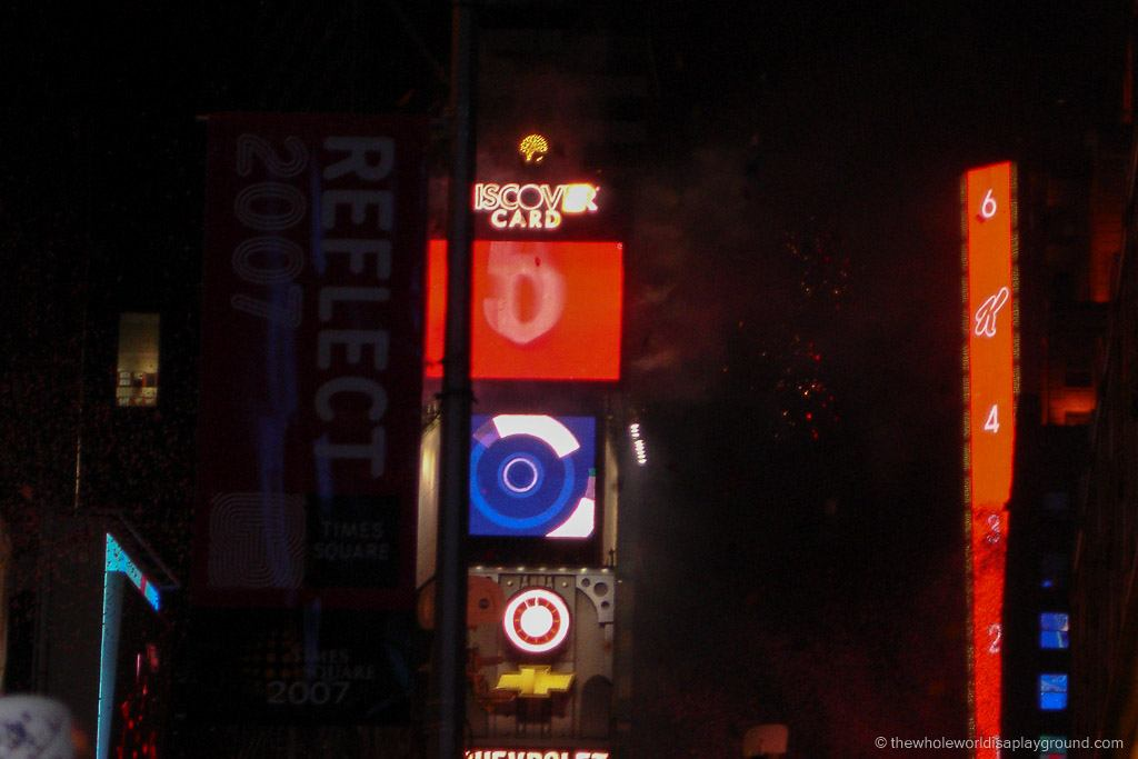 Times Square New Years Eve ©thewholeworldisaplayground
