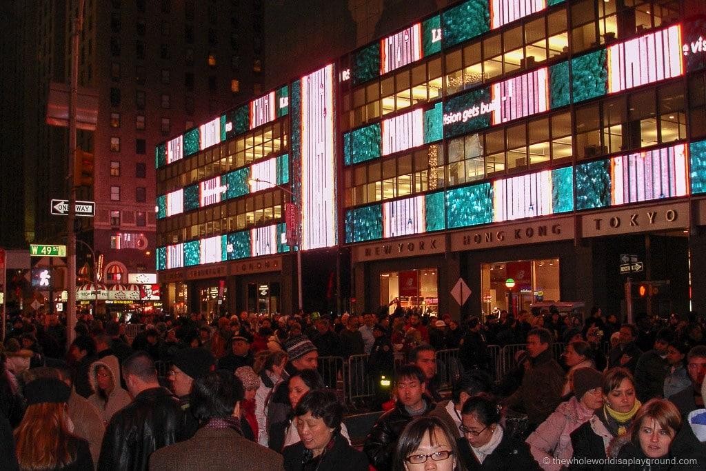 Times Square New Years Eve ©thewholeworldisaplayground
