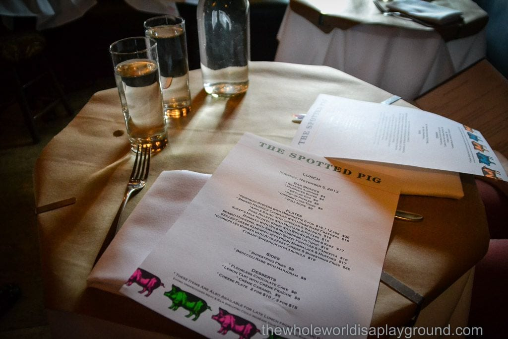 Spotted Pig New York Review ©thewholeworldisaplayground