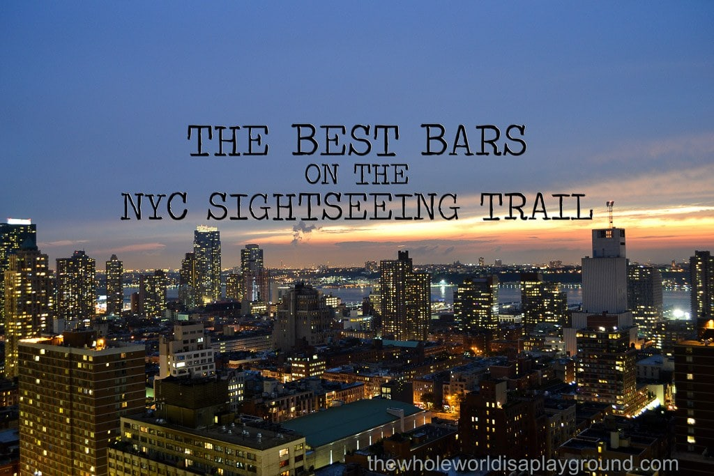 NYC sightseeing bars