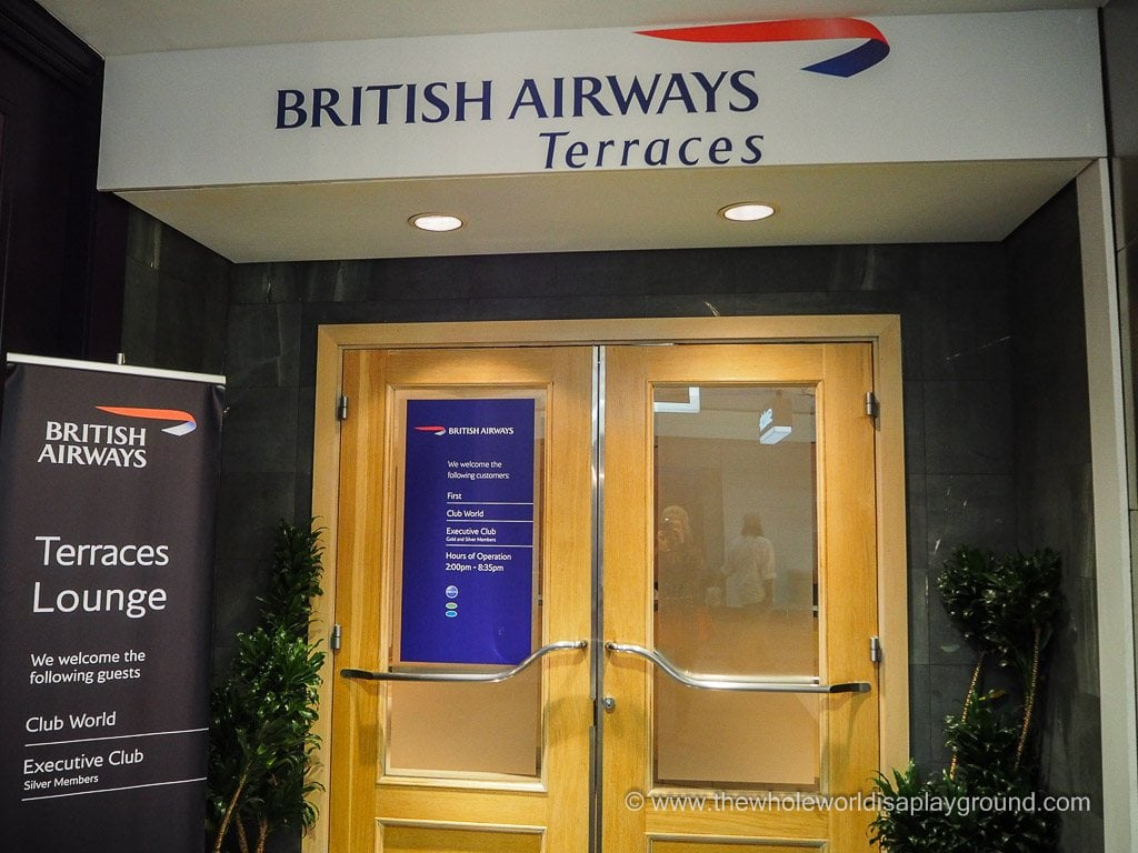 British Airways Chicago Terraces Lounge ©thewholeworldisaplayground