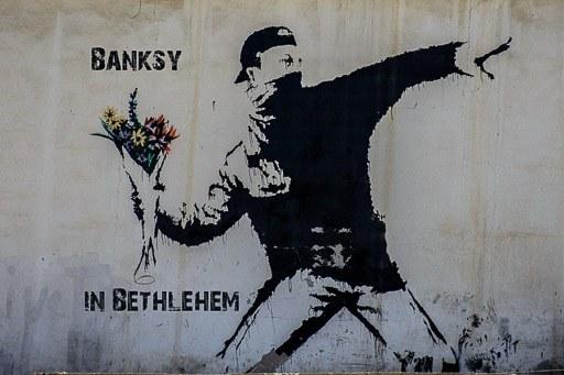 Banksy in Bethlehem! Banksy Street Art, Bethlehem, Palestine