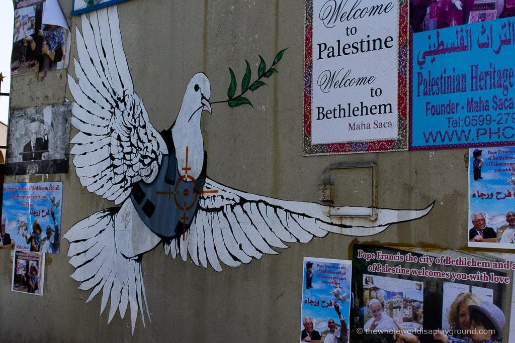Banksy Bethlehem ©thewholeworldisaplayground