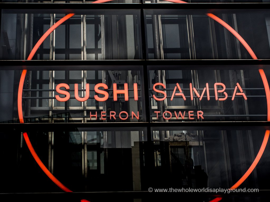Sushi Samba, London: Sushi and Cocktails in the London sky!
