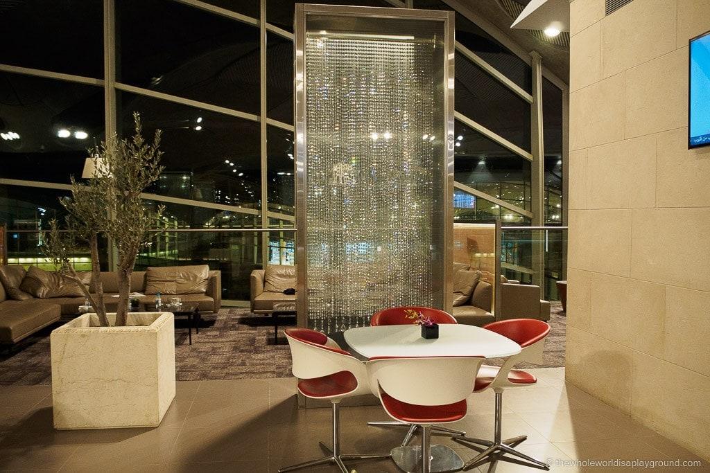 Royal Jordanian Crown Lounge, Amman ©thewholeworldisaplayground