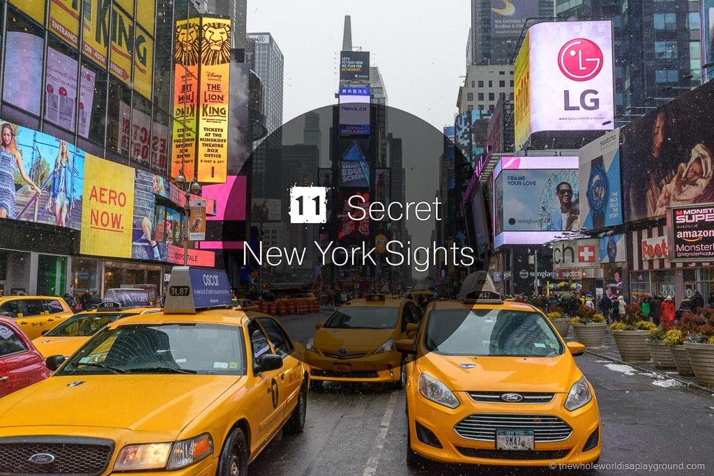 New York secret sights