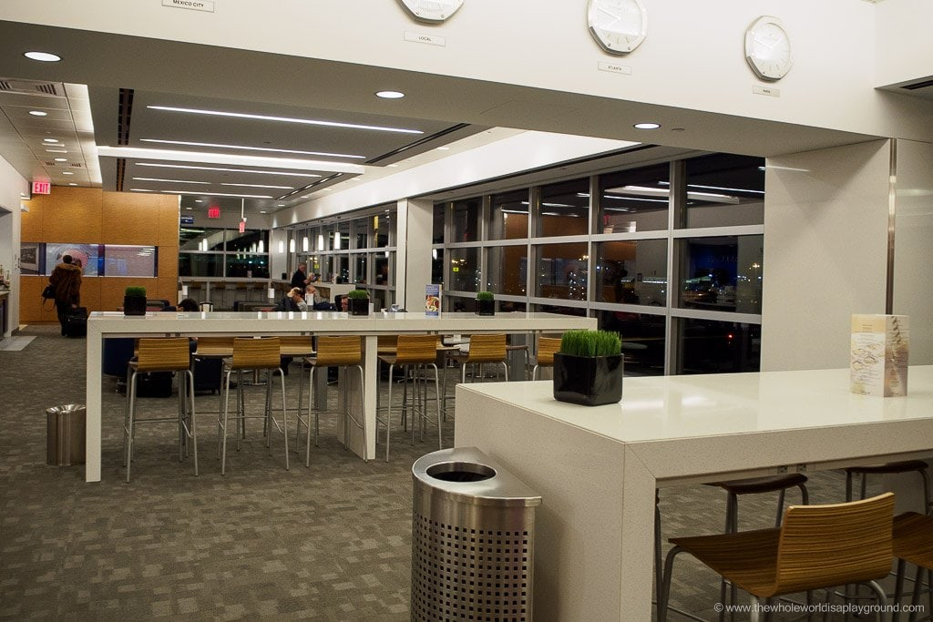 Delta Sky Club Business Class Lounge JFK ©thewholeworldisaplayground