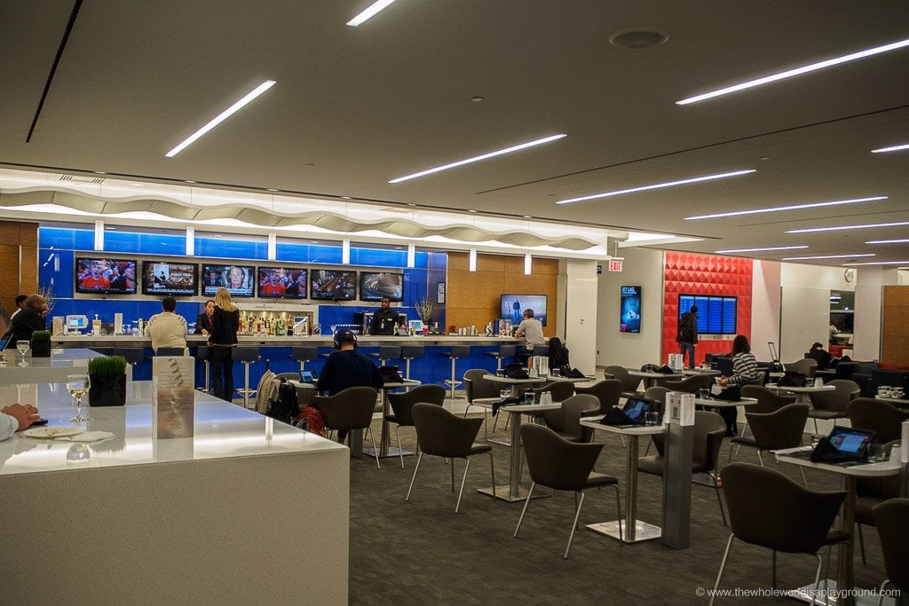 Delta Sky Club Business Class Lounge Terminal 4 Jfk New