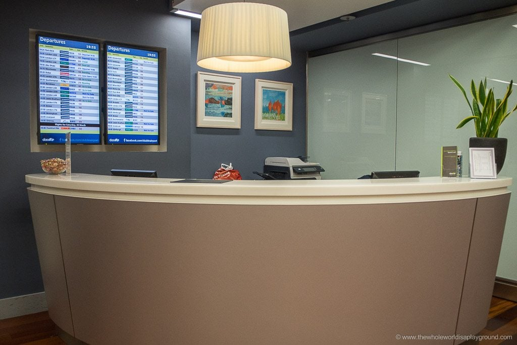 Dublin Airport Business Class DAA lounge Terminal 2 ©thewholeworldisaplayground