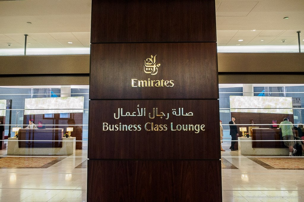 Emirates Dubai Business Class Lounge: A Gates, Terminal 3, Dubai