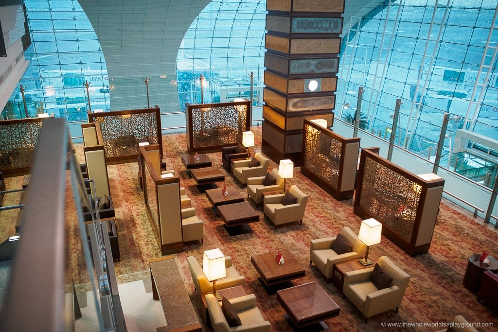 Emirates Dubai Business Class Lounge Terminal 3 A Gates © thewholeworldisaplayground