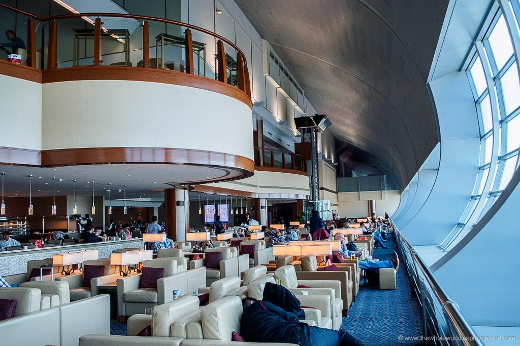 Emirates lounge C gates Dubai review ©thewholeworldisaplayground
