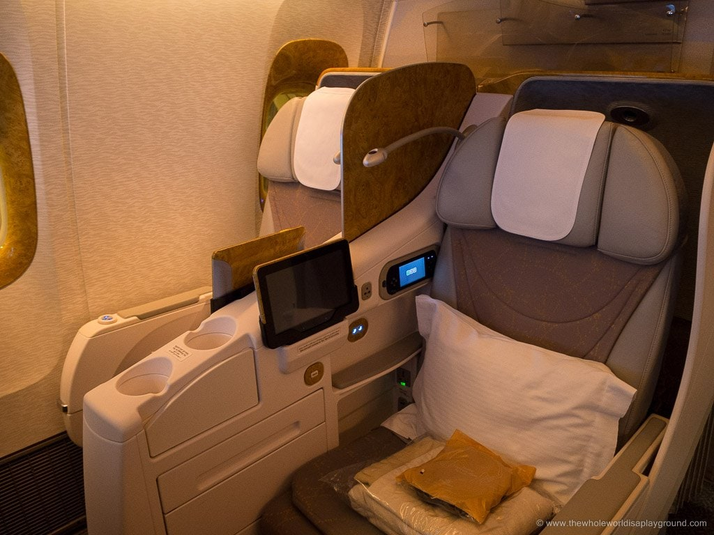 Emirates Business Class review Dublin to Dubai ©thewholeworldisaplayground