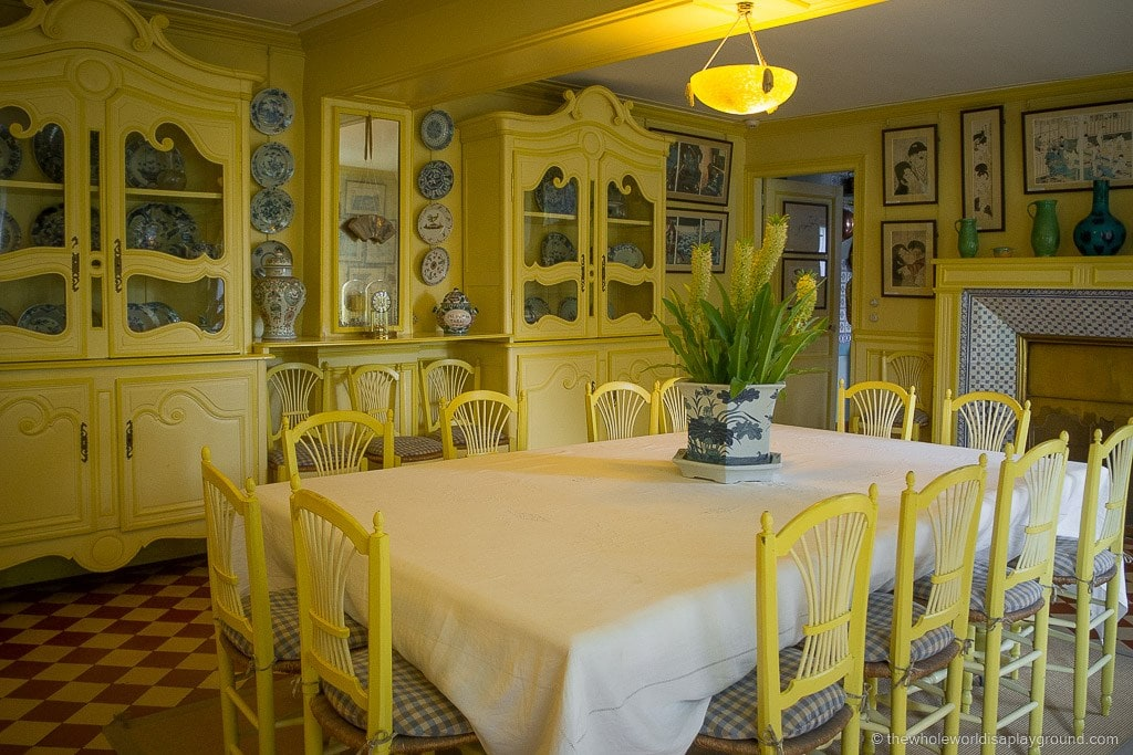 Monetu0027s Fantastic Yellow Dining Room: Monetu0027s Gardens Giverny Day Trip  Paris ©thewholeworldisaplayground