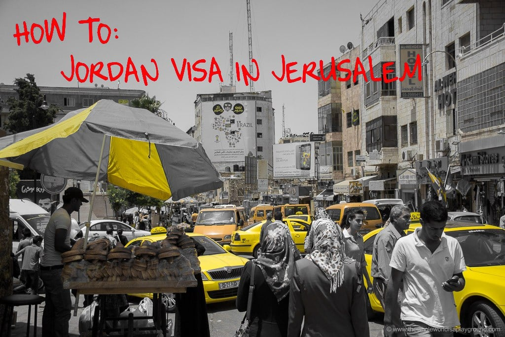 Jordan visa Israel Crossing King Hussein Bridge Allenby