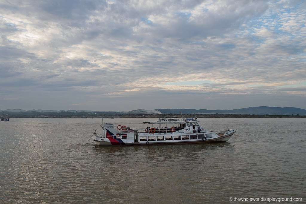 How to get from Bagan to Mandalay by boat: cruising up the Irrawaddy River!