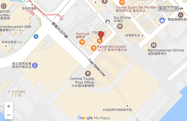 Sushi Dai Location Map