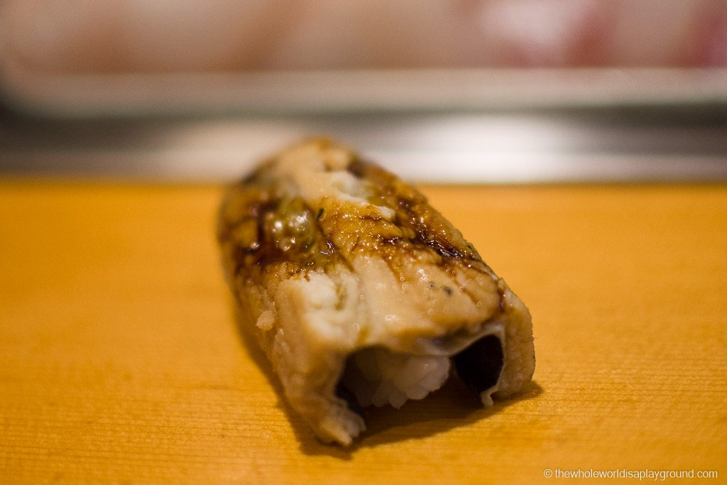 Anago (Sea Water Eel) at Sushi Dai