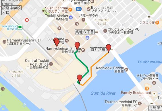 Tsukiji Tuna Auction Map