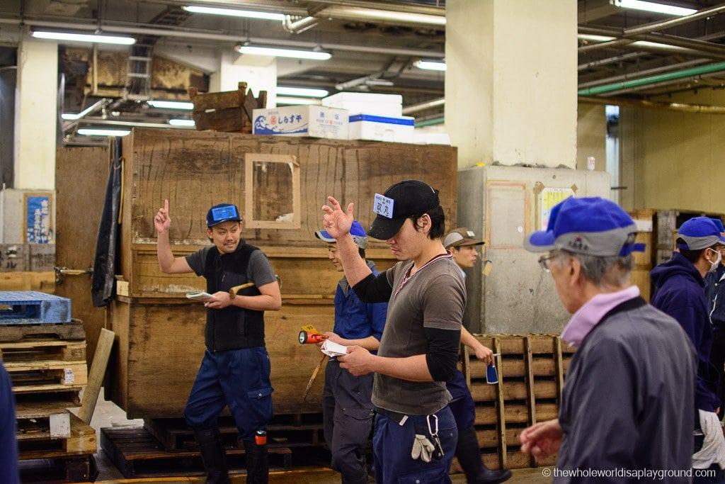 Visit Tsukiji fish market tuna auction Tokyo ©thewholeworldisaplayground