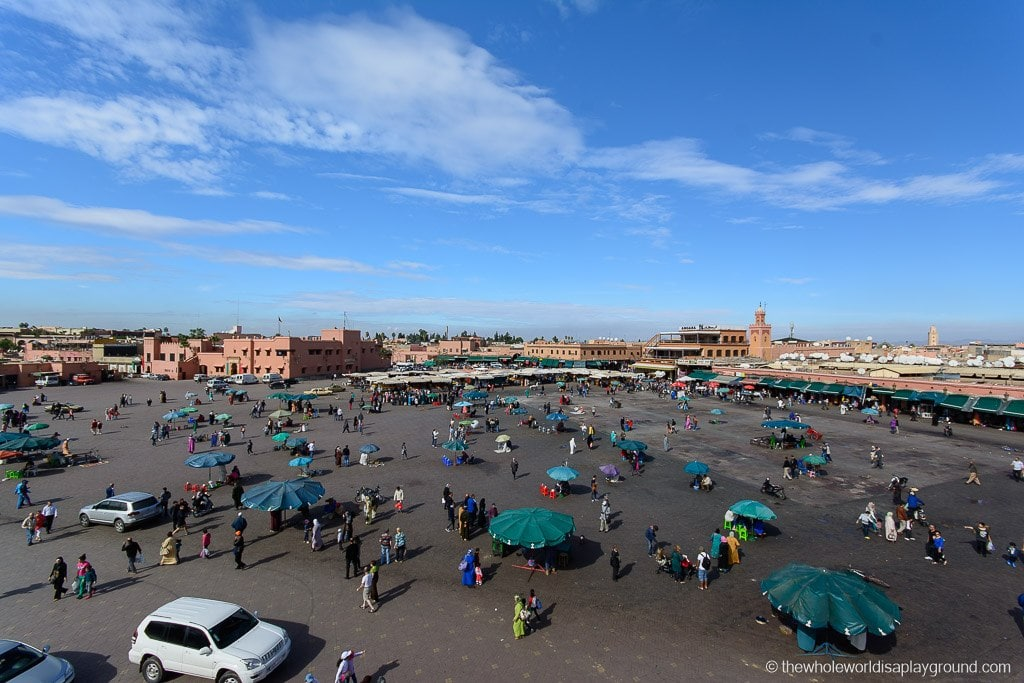 a more relaxed Jemaa el Fnaa during the day
