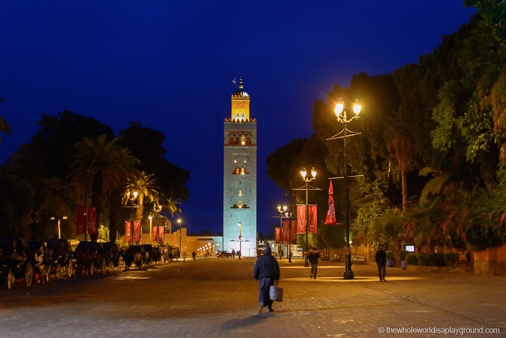 The Koutoubia Mosque at night