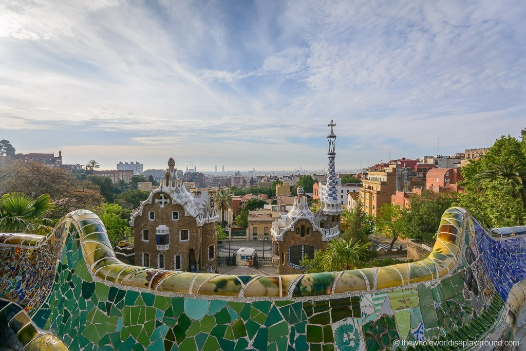 The view of Barcelona from Park Guell