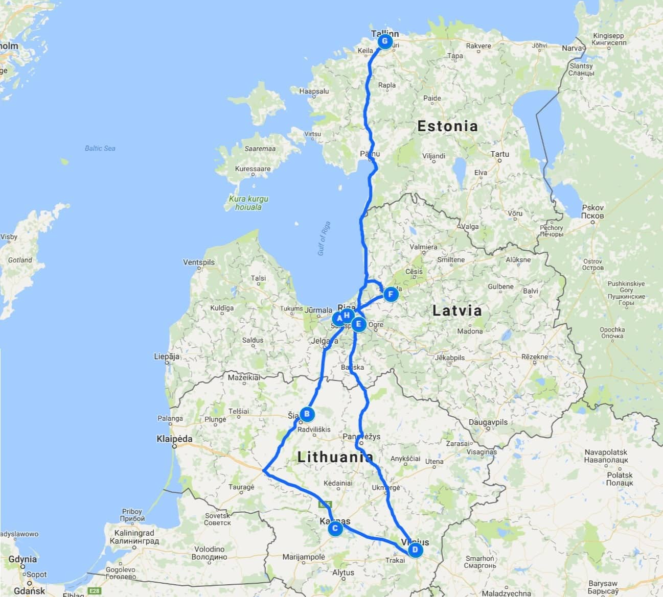 Our Baltic Route