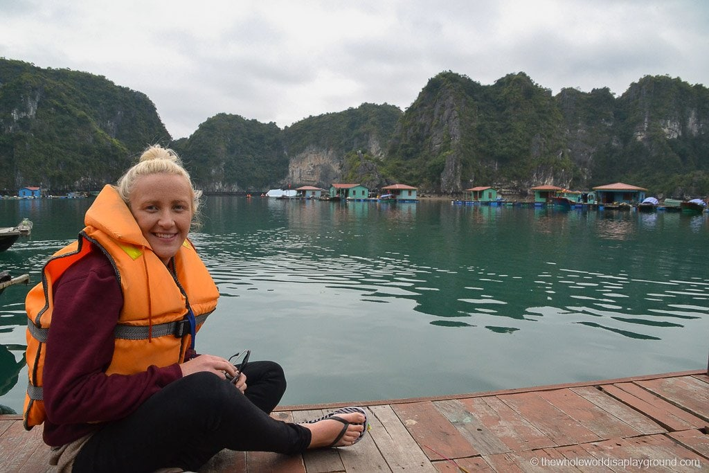 Chilling out at the floating village