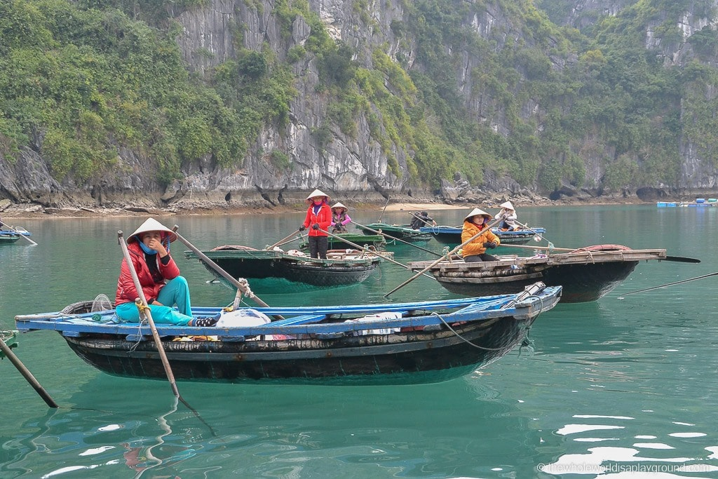 Local boats at Ha Long Bay