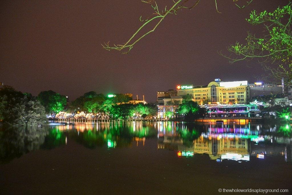 Hanoi's beautiful Hoan Kiem Lake: the lake of the Restored Sword