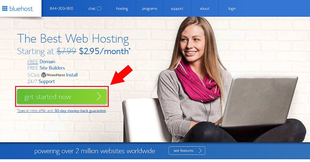 How to Setup Blog 1-Bluehost signup