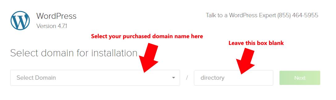 How to Setup Blog 4-Wordpress-Wordpress domain location