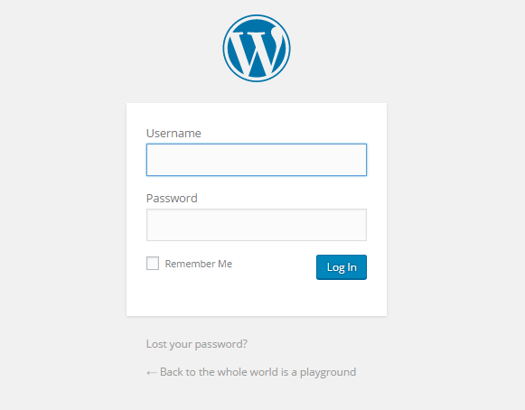 How to Setup Blog 6-Wordpress-Wordpress login