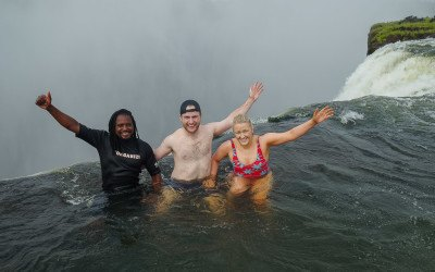 Devil's Pool Adventures: how it feels to swim on the edge of Victoria Falls!