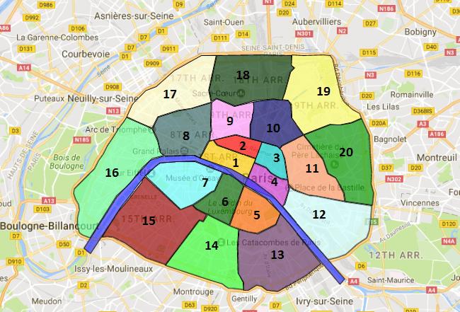 Paris Sightseeing map