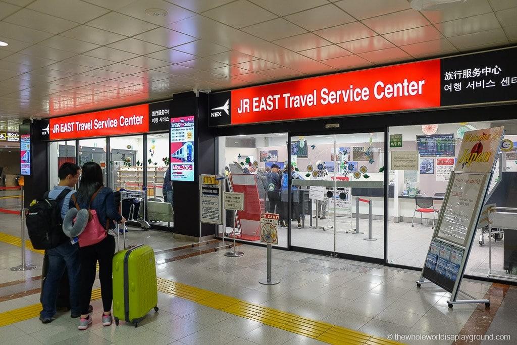 The exchange office at Tokyo Narita airport