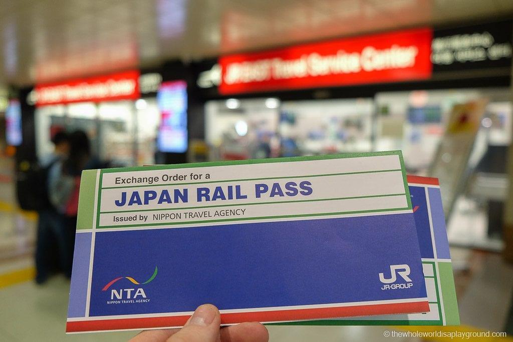 Our Japan Rail Pass vouchers