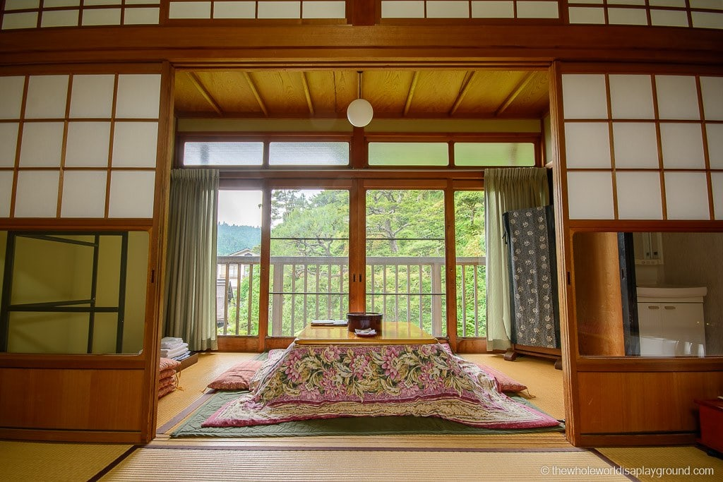 Japanese style guest rooms in the Buddhist temples
