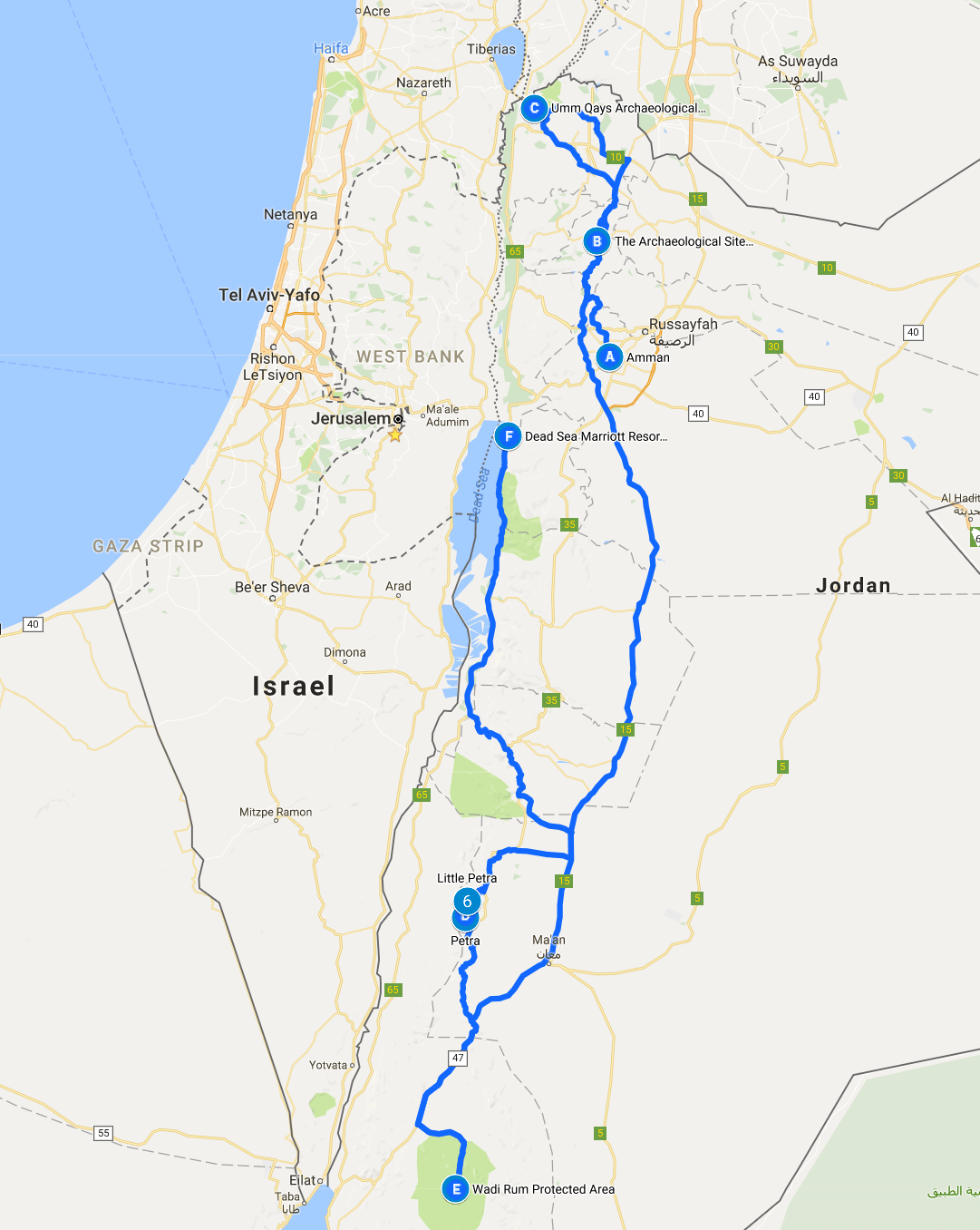 Jordan Road Trip Itinerary The Whole World Is A Playground