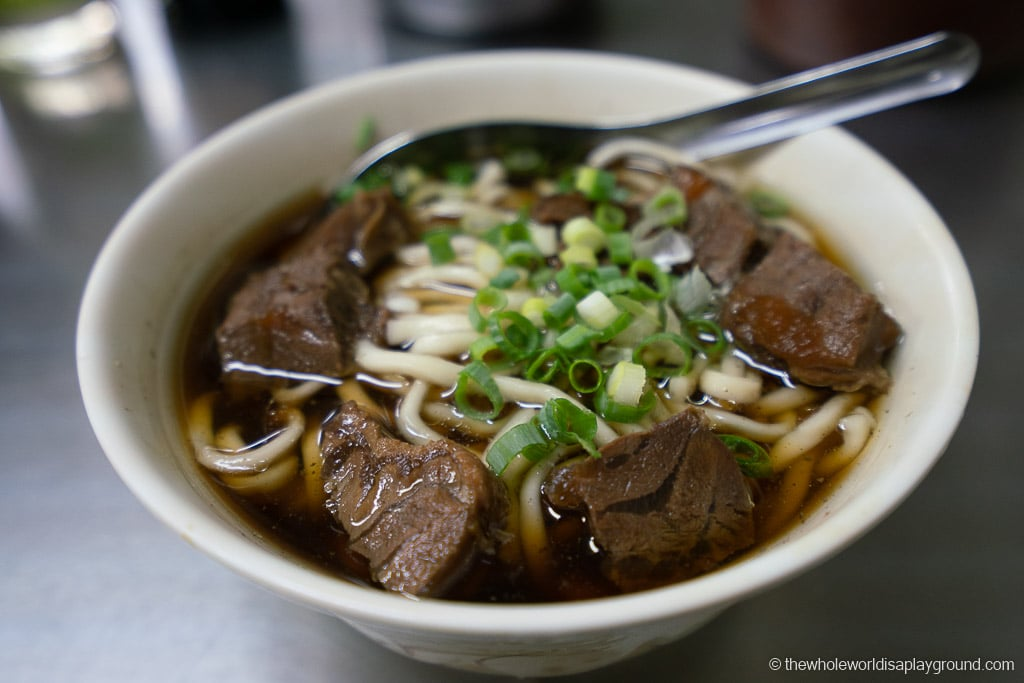 Taipei itinerary beef noodles