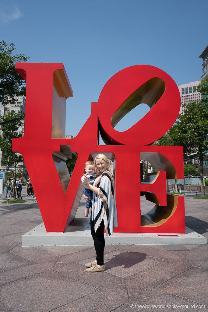 Taipei itinerary Taipei 101 love statue