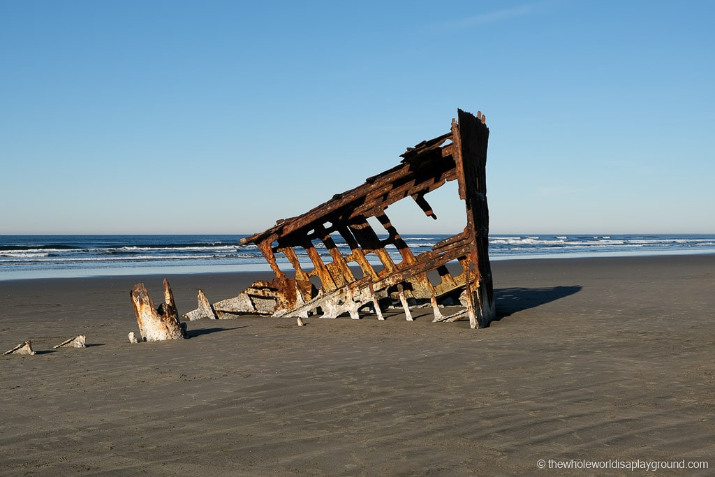 the remains of the Peter Irdale shipwreck