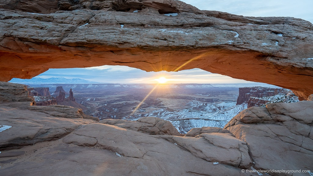 Photographing Mesa Arch at Sunrise
