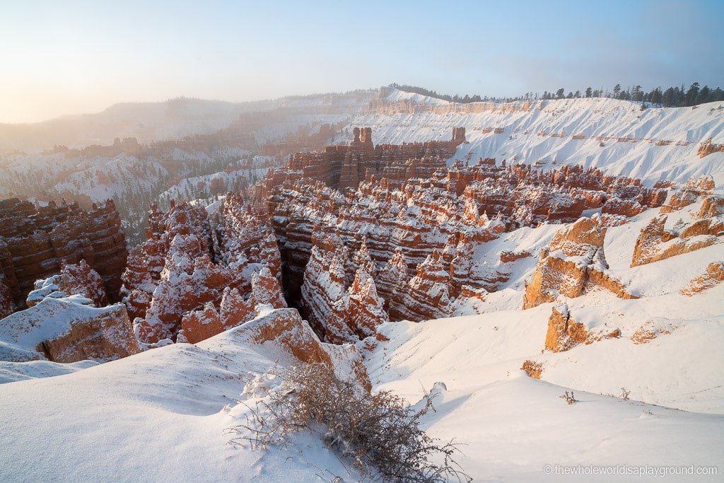 Sunset Point Bryce Canyon in Winter