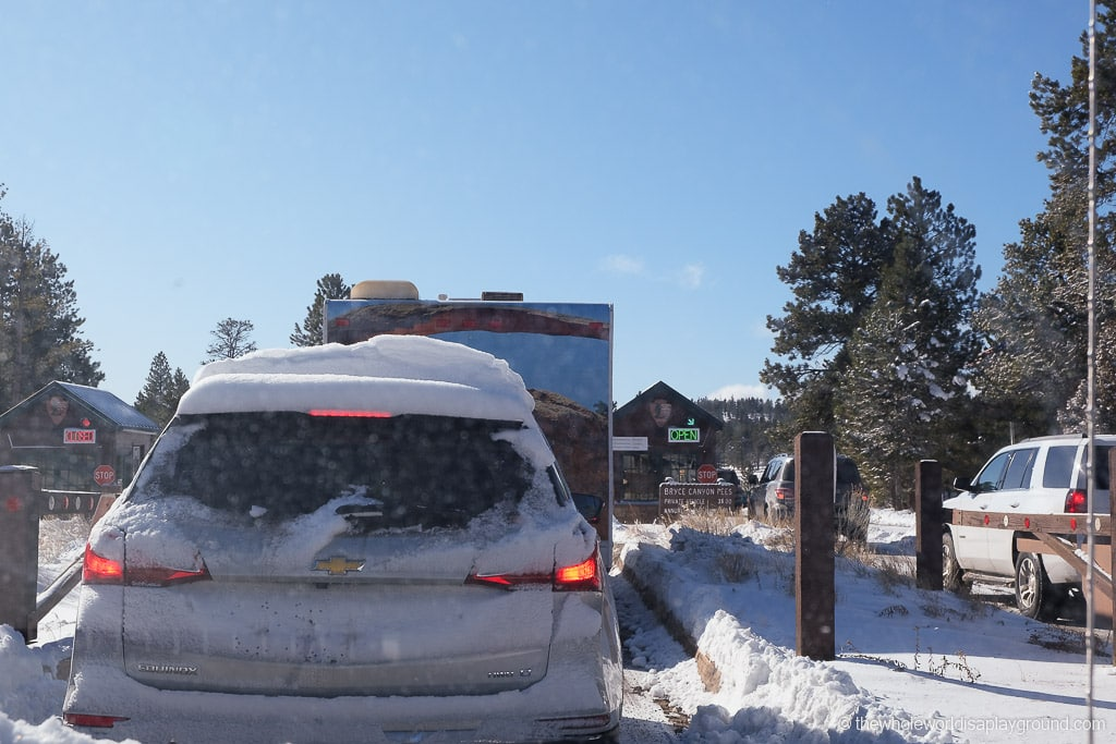 Bryce Canyon Entrance in Winter