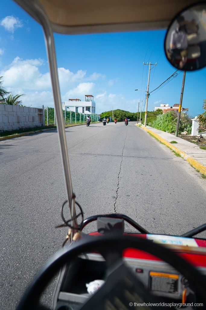 Rent golf cart Isla Mujeres