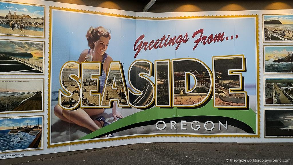 Seaside sign Oregon